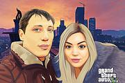 Нарисую портрет в стиле ГТА 21 - kwork.ru