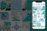 Оформление инстаграм. Дизайн 15 шаблонов постов и 3 сторис 24 - kwork.ru