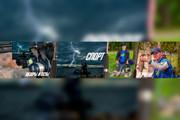 Оформление канала на YouTube, Шапка для канала, Аватарка для канала 139 - kwork.ru