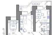 Планировка квартиры или жилого дома, перепланировка и визуализация 142 - kwork.ru