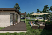 Фотореалистичная 3D визуализация экстерьера Вашего дома 381 - kwork.ru