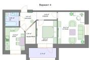 Планировочные решения. Планировка с мебелью и перепланировка 126 - kwork.ru