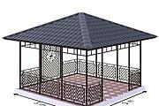 Сделаю 3d модель кованных лестниц, оград, перил, решеток, навесов 37 - kwork.ru