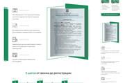 Landing page, создай свой уникальный стиль. 1 блок 26 - kwork.ru