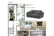 Планировочные решения. Планировка с мебелью и перепланировка 171 - kwork.ru