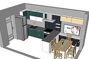 Дизайн-проект кухни. 3 варианта 43 - kwork.ru