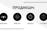 Стильный дизайн презентации 535 - kwork.ru