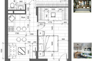 Разработка 3 вариантов планировки квартиры 40 - kwork.ru