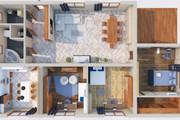 Создам планировку дома, квартиры с мебелью 81 - kwork.ru