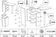 Схема, инструкция сборки мебели 51 - kwork.ru
