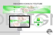 Оформление канала Ютуб. Дизайн шапки Youtube 58 - kwork.ru