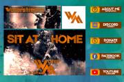 Оформление Twitch канала 227 - kwork.ru