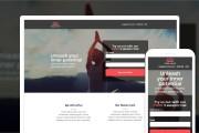 Адаптивный, красивый, современный landing на Wordpress, bitrix24 5 - kwork.ru