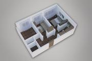 Сделаю 3д визуализацию плана для дома, квартиры 33 - kwork.ru