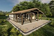 Фотореалистичная 3D визуализация экстерьера Вашего дома 378 - kwork.ru