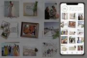 Оформление инстаграм. Дизайн 15 шаблонов постов и 3 сторис 32 - kwork.ru