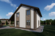Фотореалистичная 3D визуализация экстерьера Вашего дома 325 - kwork.ru