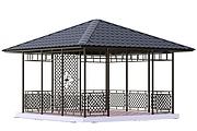 Сделаю 3d модель кованных лестниц, оград, перил, решеток, навесов 39 - kwork.ru