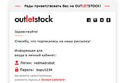 Дизайн Email письма, рассылки. Веб-дизайн 33 - kwork.ru