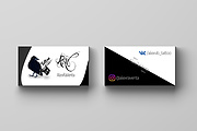 Современный дизайн двусторонней визитки. Бесплатный исходник PSD 5 - kwork.ru