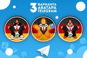 Оформление Telegram 83 - kwork.ru