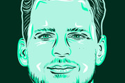 Портрет в стиле Поп - Арт векторный 16 - kwork.ru