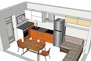 Дизайн-проект кухни. 3 варианта 42 - kwork.ru