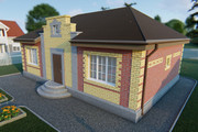 Фотореалистичная 3D визуализация экстерьера Вашего дома 375 - kwork.ru