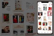 Оформление инстаграм. Дизайн 15 шаблонов постов и 3 сторис 23 - kwork.ru