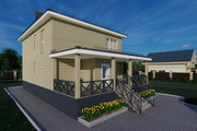Фотореалистичная 3D визуализация экстерьера Вашего дома 276 - kwork.ru