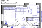 Планировка квартиры или жилого дома, перепланировка и визуализация 132 - kwork.ru