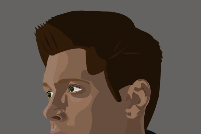 Портрет в векторе по фотографии 1 - kwork.ru