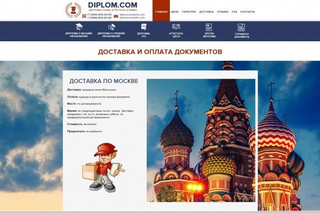 Дизайн страницы сайта 24 - kwork.ru