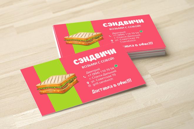 Дизайн визитки с исходниками 25 - kwork.ru