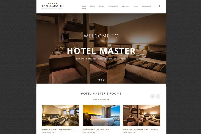 Тема Hotel Booking для WordPress на русском с обновлениями и плагинами 2 - kwork.ru
