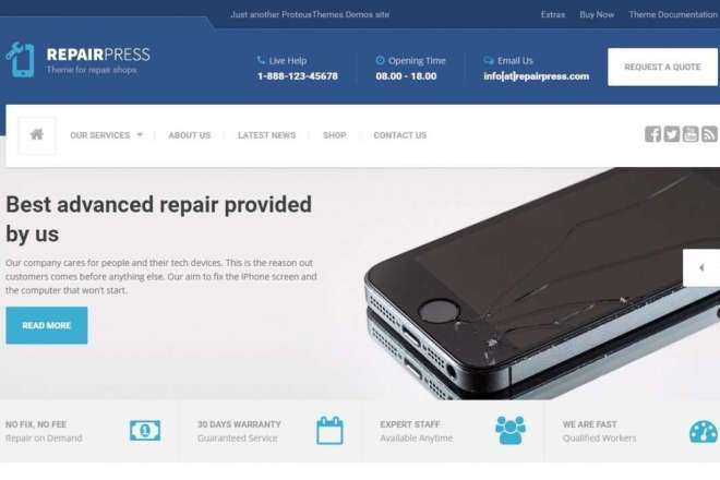 Тема RepairPress с плагинами для WordPress на русском с обновлениями 11 - kwork.ru