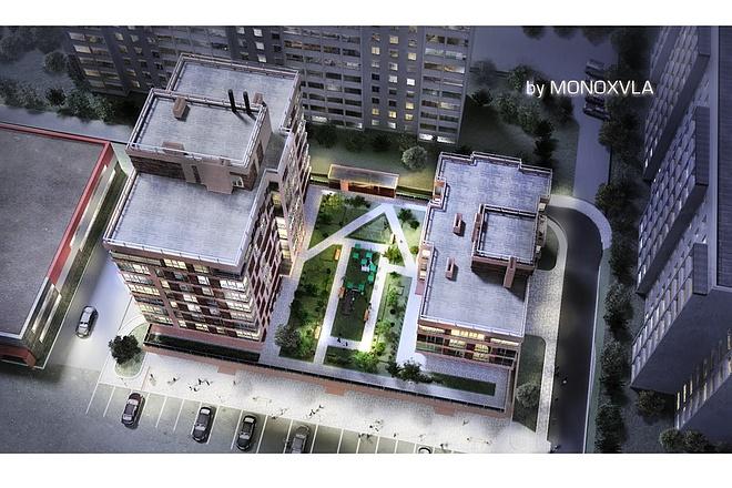 3D визуализация - многоквартирный дом, жилой комплекс 3 - kwork.ru