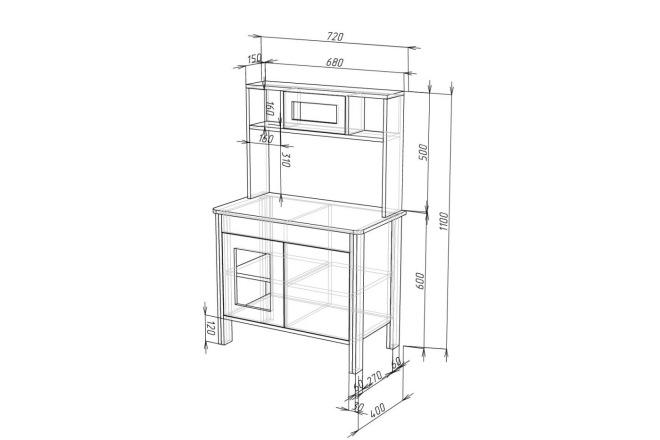 Проект корпусной мебели, кухни. Визуализация мебели 48 - kwork.ru