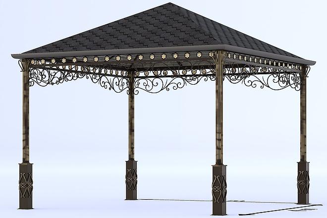 Сделаю 3d модель кованных лестниц, оград, перил, решеток, навесов 16 - kwork.ru