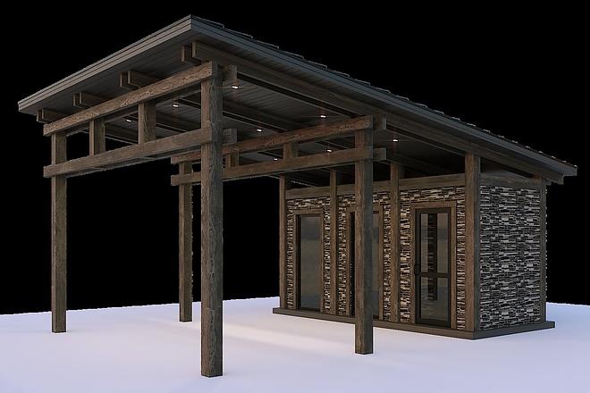 Сделаю 3d модель кованных лестниц, оград, перил, решеток, навесов 13 - kwork.ru