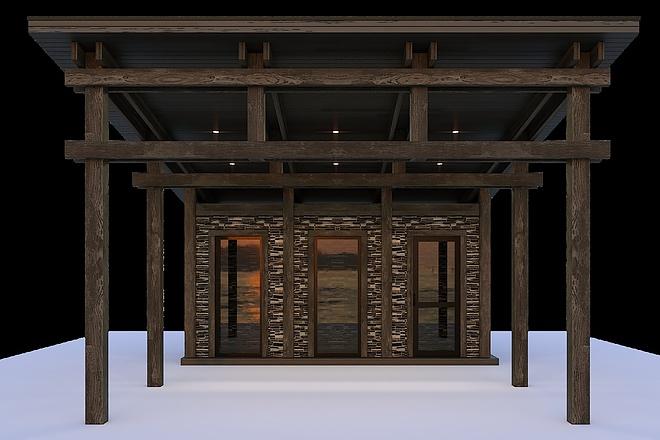 Сделаю 3d модель кованных лестниц, оград, перил, решеток, навесов 12 - kwork.ru