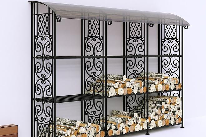 Сделаю 3d модель кованных лестниц, оград, перил, решеток, навесов 10 - kwork.ru