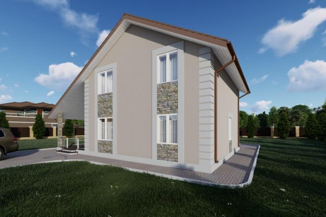 Фотореалистичная 3D визуализация экстерьера Вашего дома 127 - kwork.ru