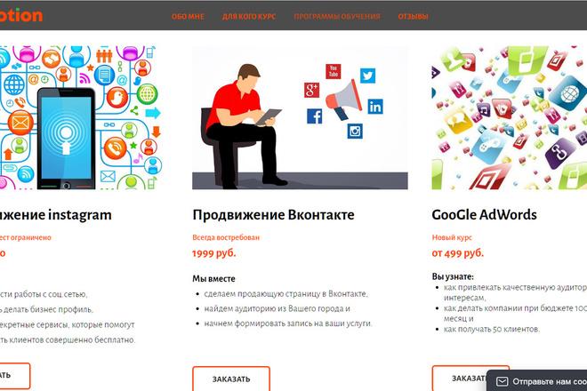 Создание сайтов на конструкторе сайтов WIX, nethouse 34 - kwork.ru