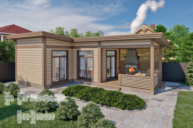Фотореалистичная 3D визуализация экстерьера Вашего дома 3 - kwork.ru