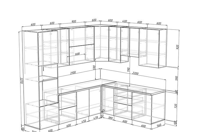 Конструкторская документация для изготовления мебели 92 - kwork.ru