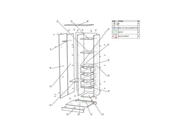 Конструкторская документация для изготовления мебели 30 - kwork.ru