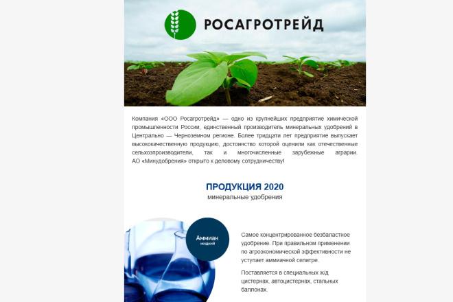 Создание и вёрстка HTML письма для рассылки 88 - kwork.ru