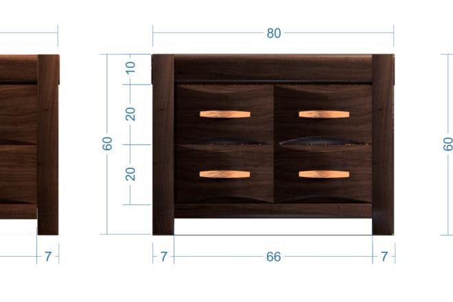 Моделирование мебели 24 - kwork.ru