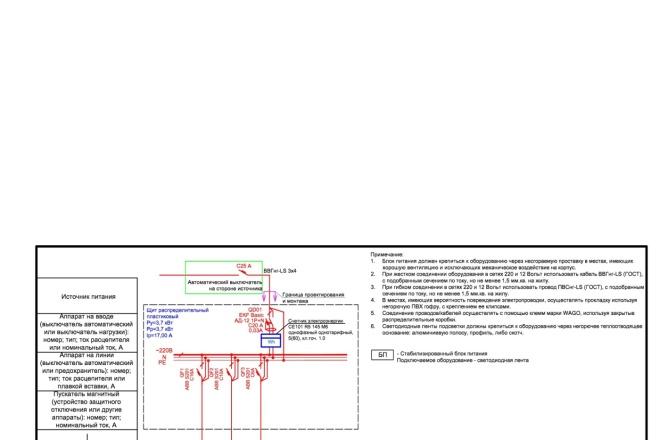 Выполню однолинейную схему электроснабжения 8 - kwork.ru